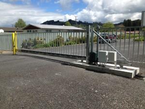 Cantileavered gate